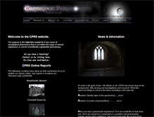 Tablet Preview of cambridgeparanormal.co.uk